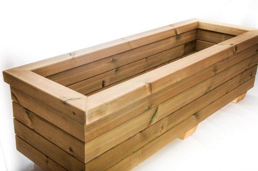 wood trough planter