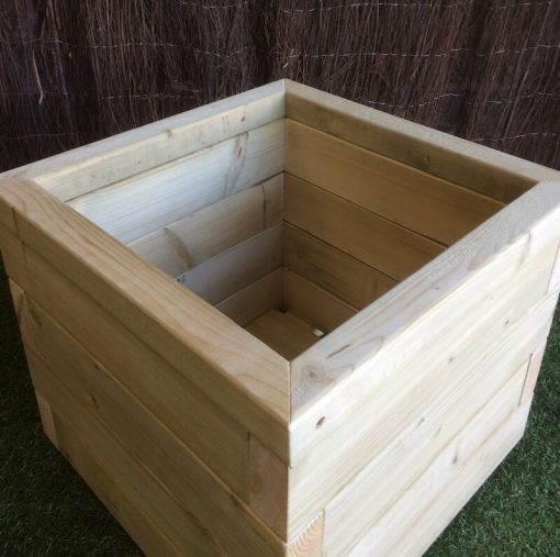 wooden square planter