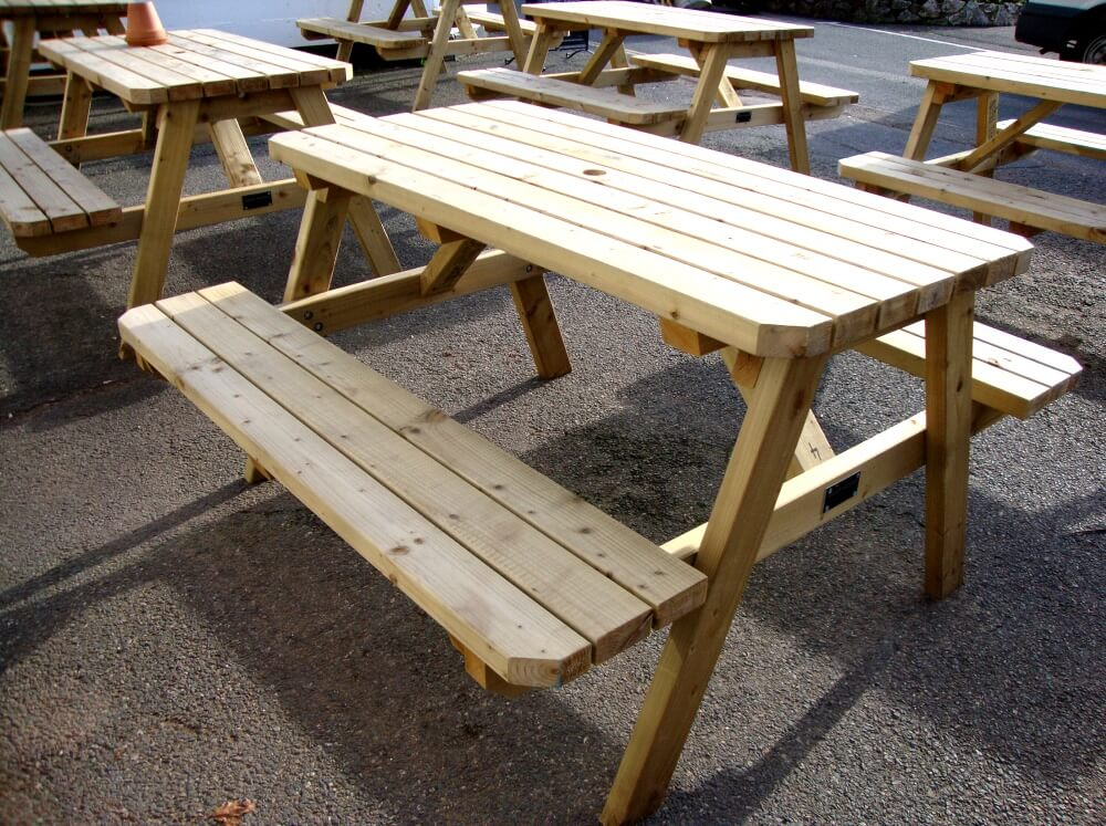 A Frame Picnic Table Wooden Garden Furniture Beer Table