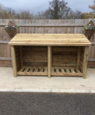 Gidleigh 4ft Double Bay Log Store