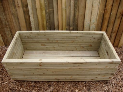 extra deep wooden vegetable planters