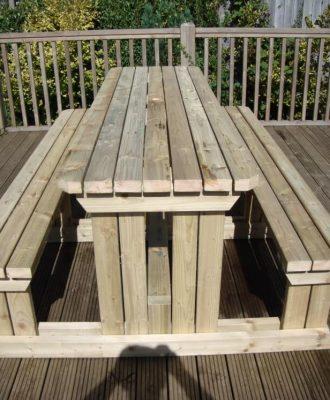 Walk-In Picnic Table