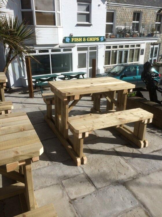 Walkin Picnic Table Outdoor Garden Furniture - Walk in picnic table