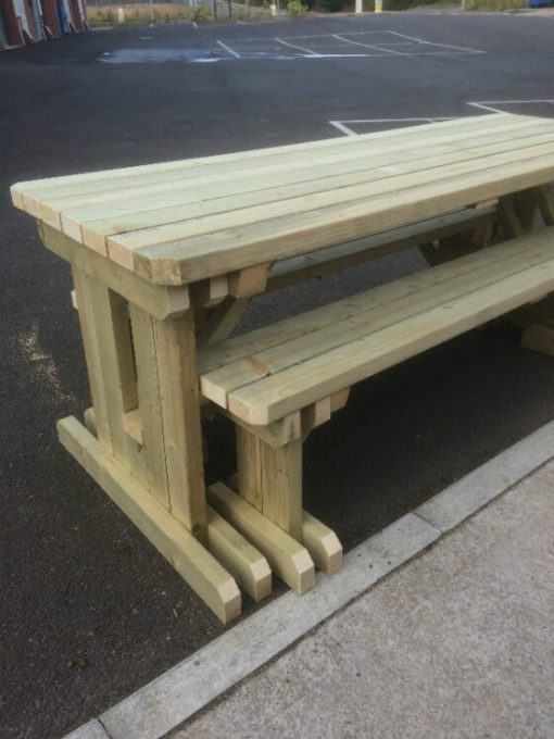 haleywood table and bench set