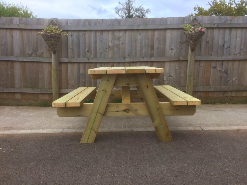 Swedish A Frame Picnic Table Heavy Duty Beer Garden