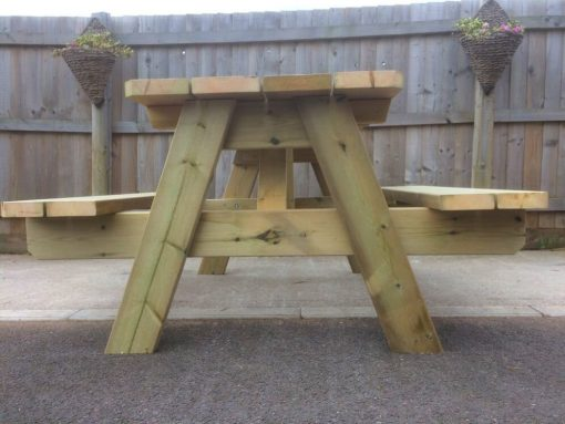 Garden Table Swedish Redwood Heavy Duty