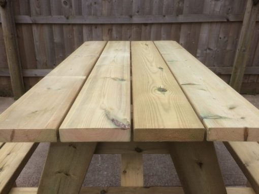 swedish redwood beer garden table