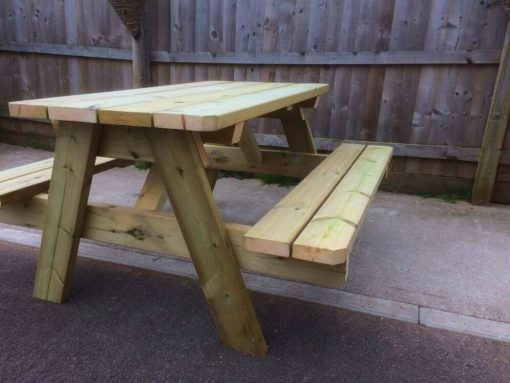 heavy duty swedish redwood a frame picnic table