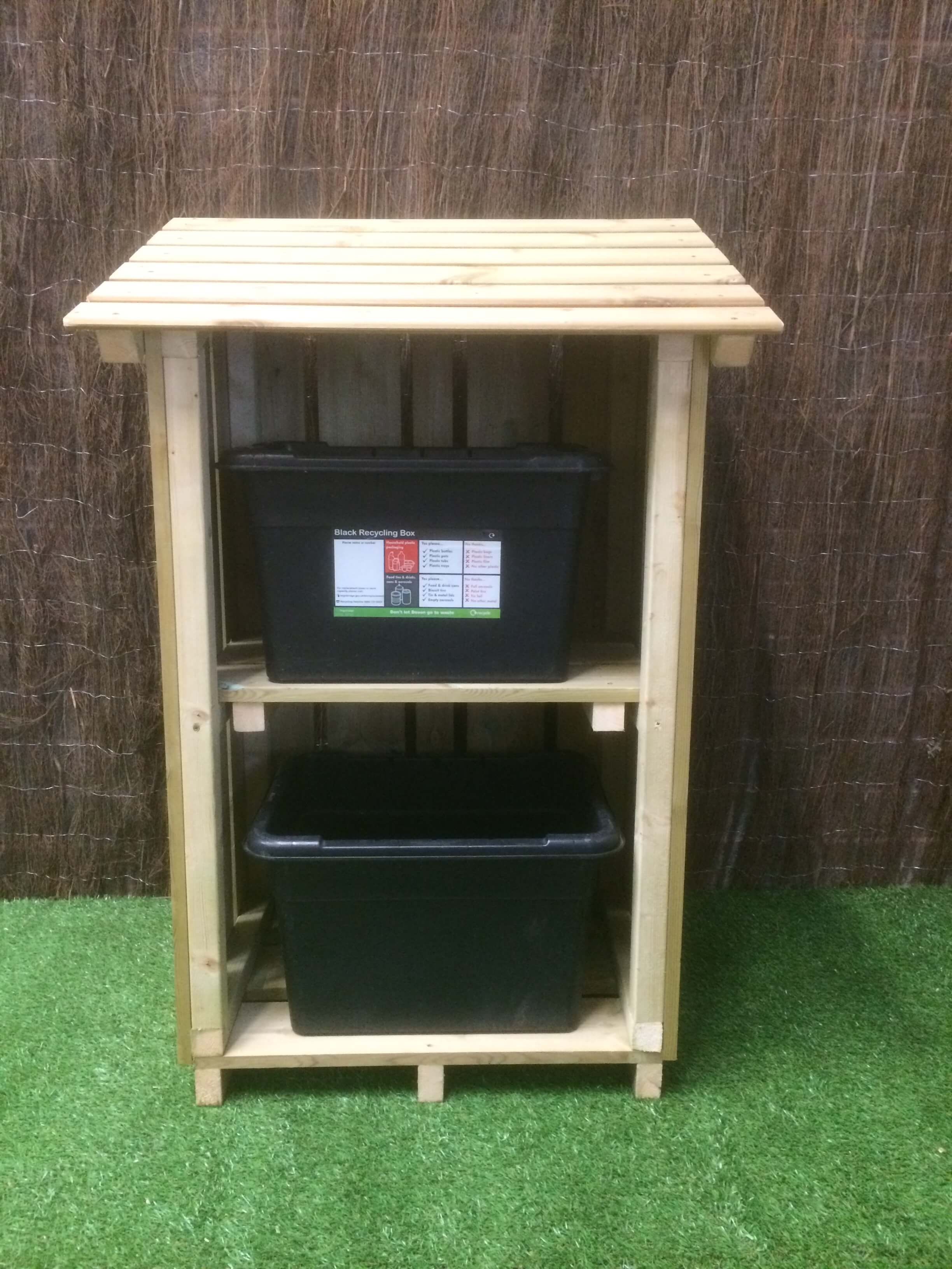Cadworthy Recycling Box Store Outdoor Wooden Garden