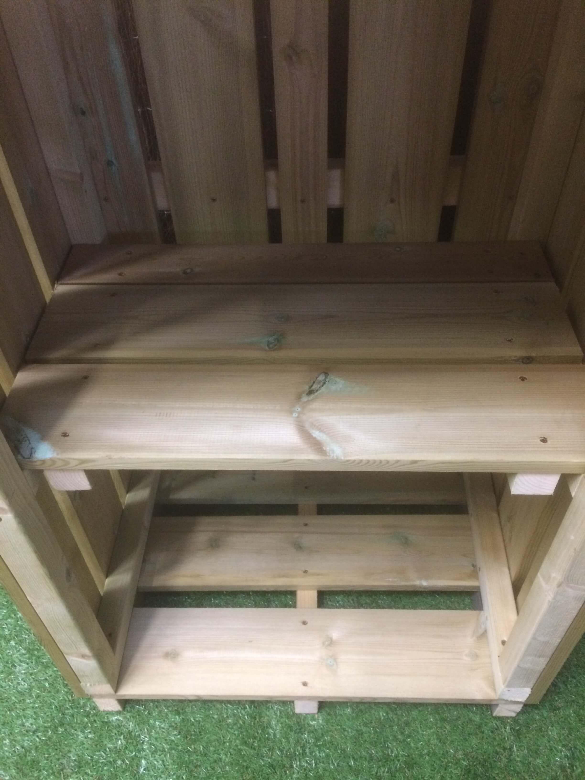 Cadworthy Recycling Box Store Outdoor Wooden Garden